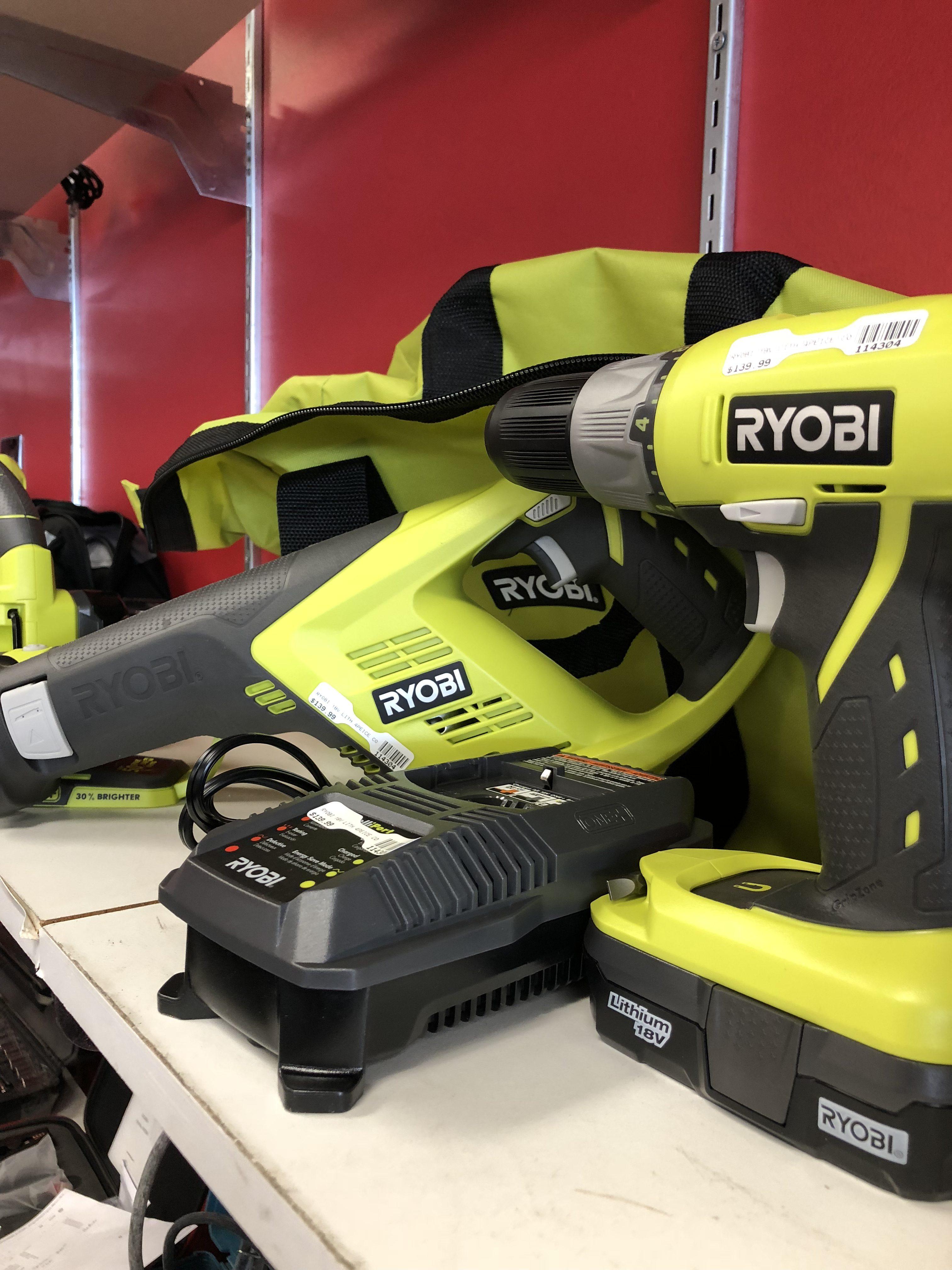 Ryobi 18V 4piece Tool Set