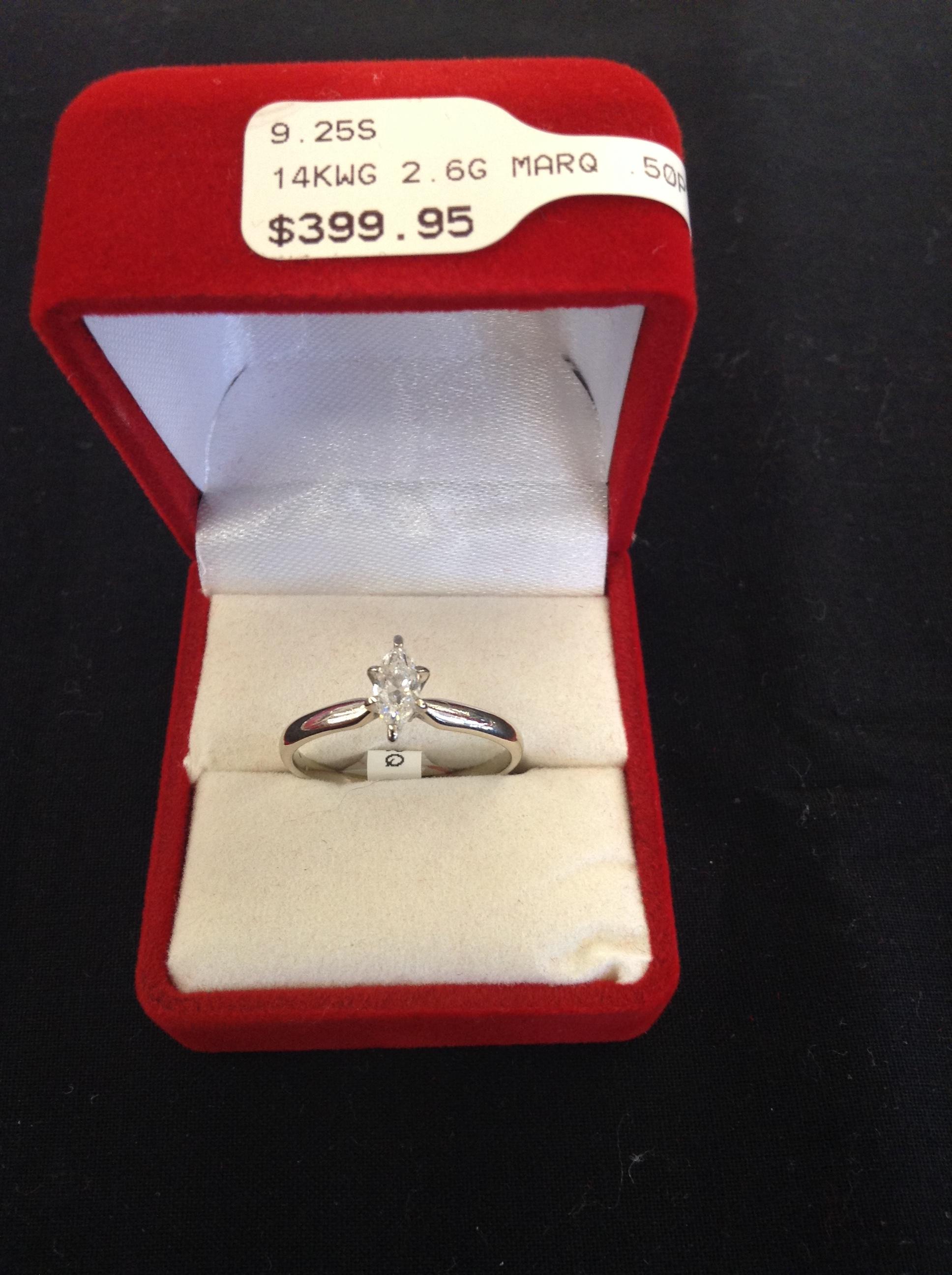 14k Wg Marq Ring